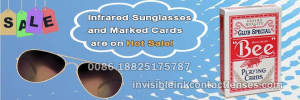 marked cards with invisible ink